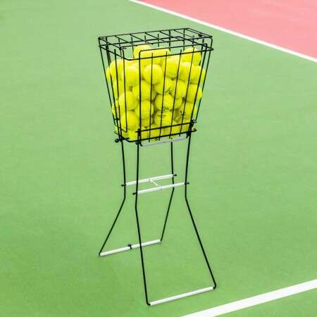 Tennis Ball Basket & Hopper [72 Ball Capacity]
