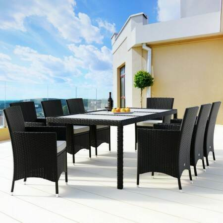 Harrier Rattan Dining Table & Chair Set | Net World Sports