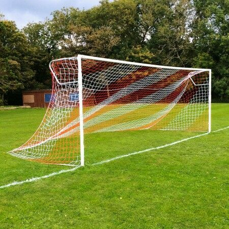 Red & White Customizable Soccer Net