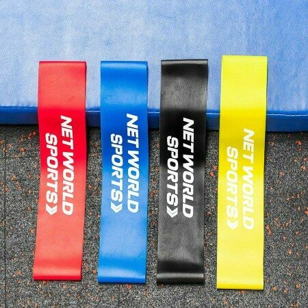 Set Of 4 Varied Thickness Resistance Bands