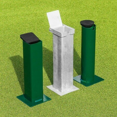 Flip Top Square Tennis Post Socket | Ground Sockets | Tennis Post Sockets | Ground Socket Caps / Lids | Net World Sports