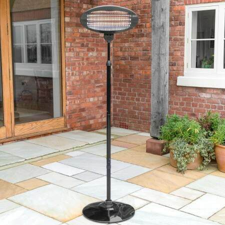 Harrier Rounded Standing Patio Heater | Net World Sports
