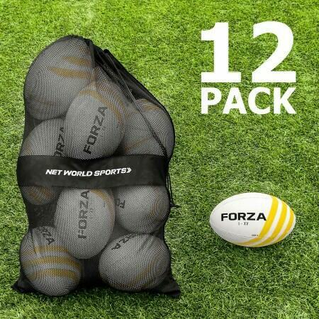 12 Pack FORZA Rugby Balls & Carry Bag | Net World Sports