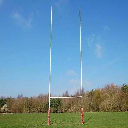 Hinged Aluminium Rugby Posts – Club Spec (7m, 11m Or 13m High)