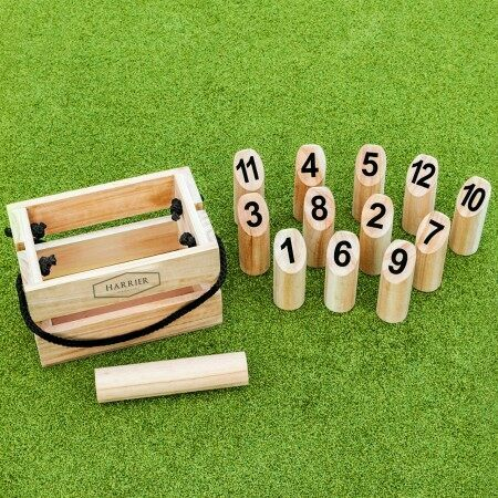Number Kubb Set | Outdoor Wooden Skittles Game | Net World Sports