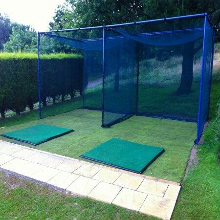 Socketed Golf Cage & Net - Professional Range