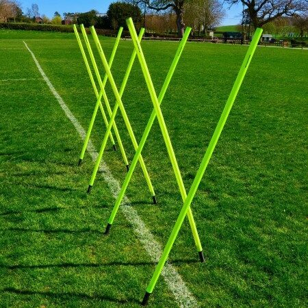 Poles for Football Training