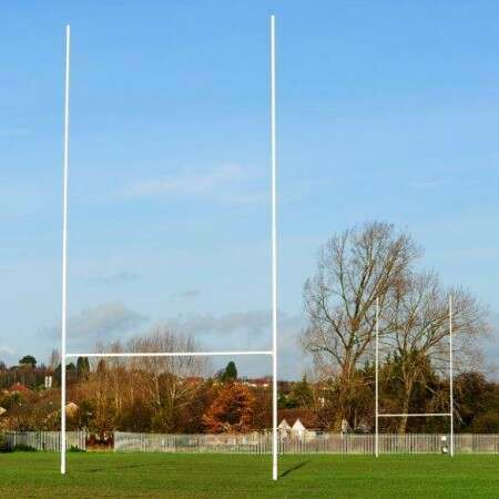 Hinged Steel Rugby Posts – Heavy Duty (7m Or 11m High)