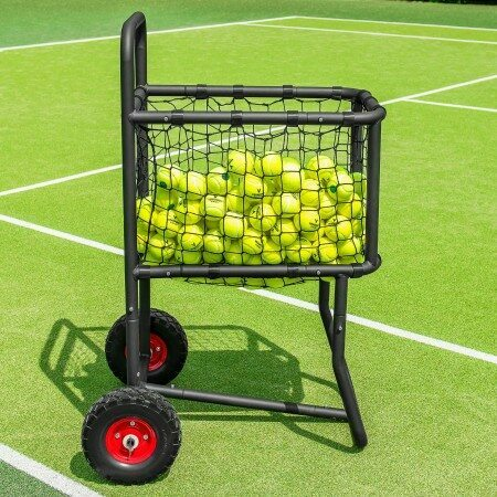 Tennis Ball Carry Cart | Tennis Basket With Wheels | 300 Ball Capacity | Coaching Equipment | Net World Sports