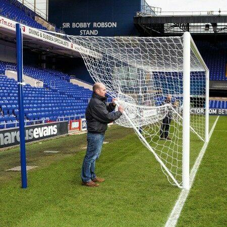 Soccer Goal Net Stanchions - 80mm Aluminum