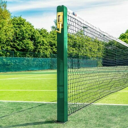 Square Tennis Posts - Vermont | Socketed Tennis Posts | Wimbledon Green | Net World Sports