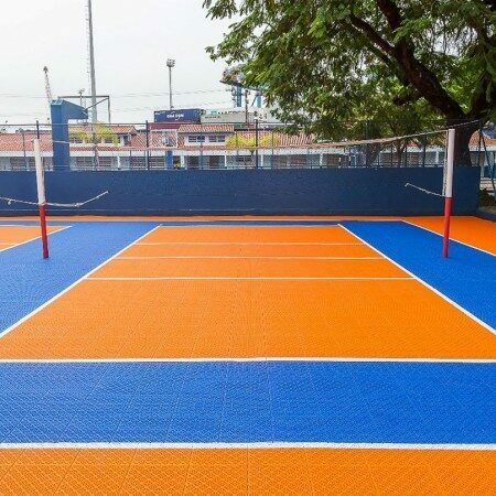 Orange Volleyball Court Modular Floor Tiles System