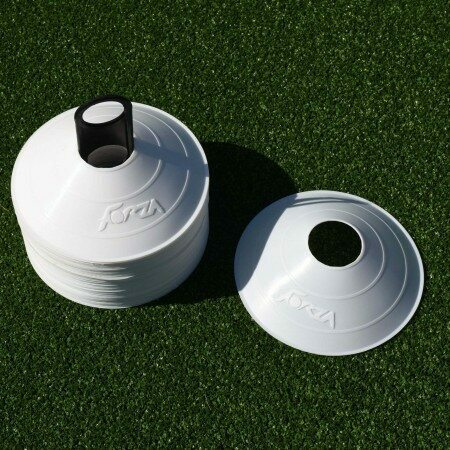 FORZA Tennis Training Marker Cones [White] (Training & Ref Equipment Set)