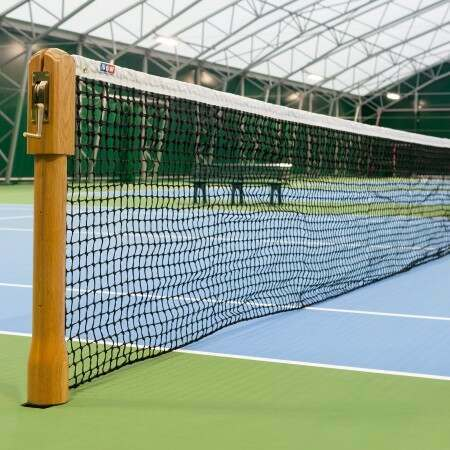 Wimbledon Style Wooden Tennis Posts ITF Tournament Regulation | Vermont Sports