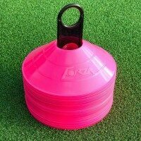 Pink FORZA AFL Aussie Rules Football Training Marker Cones [Pack Of 50]