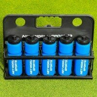 Porta Botellas Plegable y 10 Botellas de Agua Azules (750ml)