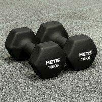 Metis Haltères Hex Dumbbells en Néoprène - Paire [10kg]
