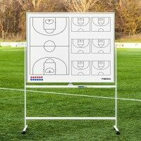 FORZA 60in x 47in Double-Sided Wheeled Basketball Coaching Whiteboards