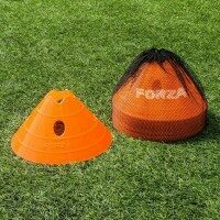 Orange FORZA Superdome Jumbo Fußballtraining Markierungshütchen [20er-Set]