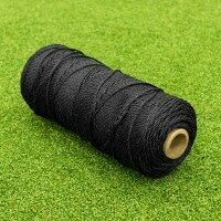 TITAN Garden & Home Craft DIY Synthetic Twine [2mm Tie Twine - 0.5kg Roll - Black]