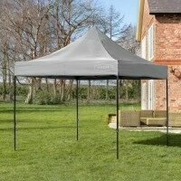 Harrier Deluxe Pop Up Gazebo [3m x 3m - Grey] - Gazebo Only