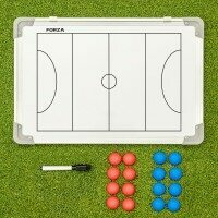 FORZA 45cm x 30cm Double-Sided Netball Coaching Tactics Boards - With Carry Bag