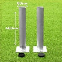 60mm Ground Sockets For Football Goals [Set of 2 With Lids]