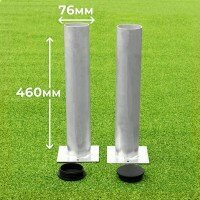 76mm Ground Sockets For Football Goals [Set of 2 With Lids]