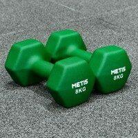 METIS Neoprene Hex Dumbbells x2 [8kg]