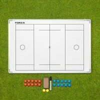 FORZA 90cm x 60cm Double-Sided Lacrosse Coaching Board - With Carry Bag