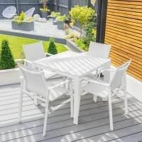Harrier Luxury Outdoor Dining Table Set [90cm x 90cm] + 4x Seats