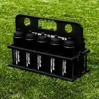 10 Black Water Bottles (750ml) & Foldable Bottle Carrier
