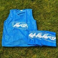 Blue FORZA Pro Rugby Training Bibs/Vests [15 Pack - Kids]