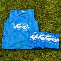 Blue FORZA Pro Rugby Training Bibs/Vests [15 Pack - Junior]