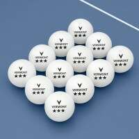 Vermont Table Tennis Balls - 3 Star Pack of 12