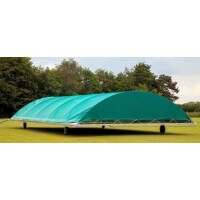 Mobile Cricket Pitch Covers [Club/ Dome Shaped] - 8m long