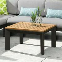 Harrier Luxury Aluminium Coffee Table [Charcoal/Teak]