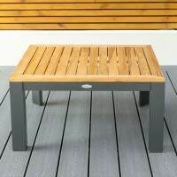 Harrier Luxury Aluminium Coffee Table [Charcoal/Teak]