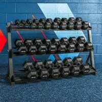 ,Fitness Equipment,Weights Dumbbells Rack TIANXIN Dumbbell Rack Stand 3 Tier excluding Dumbbells Dumbbells Hand Weights Sets Holds 30 Pounds,Three-Tier Dumbbell Rack