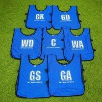 Netball Bibs – Senior (BLUE) [Pack of 7]