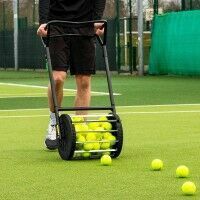 Vermont Tennis Ball Roller Mower & Hopper [85 Ball Capacity]