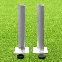 60mm Ground Sockets For Soccer Goals [Set of 2 With Lids]