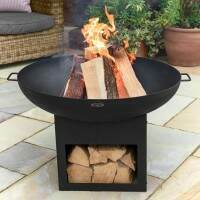 Harrier Fire Pit Bowl With Log Storage [30in]