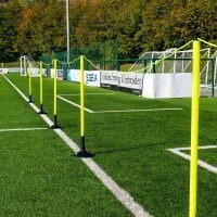 FORZA Football Astroturf Crowd Control Barrier - 60m Barrier + Bases