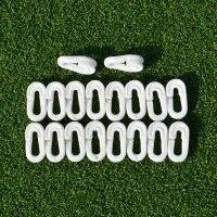 Clips de Filet de Cricket (Lot de 80) - Blanc
