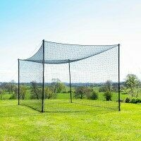 FORTRESS Ultimate Baseball Batting Cage & Poles - 10ft x 10ft x 20ft