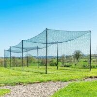 FORTRESS Ultimate Baseball Batting Cage & Poles - 9ft x 10ft x 70ft