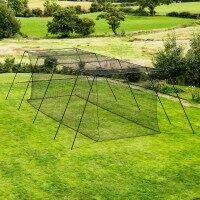 35ft FORTRESS Trapezoid Baseball Batting Cage [Complete] Internal Net