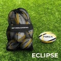 FORZA Eclipse Rugby Balls & Carry Bag [12 Pack] - Size 5