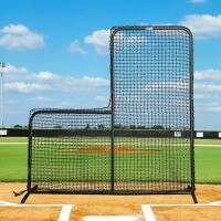 6ft x 6ft (36in Cut-Out & #62 Grade) Fortress Baseball L-Screen Nets